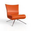 ClubStuhl Orange 3D