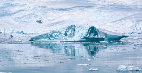 Different forms of icebergs, Antarctica