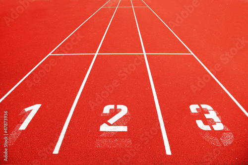 Race track with numbers
