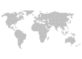 Welt grau - Serie: Pixelkarte Kontinente