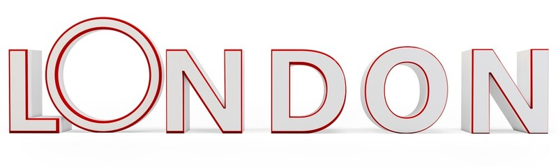 3d red london name