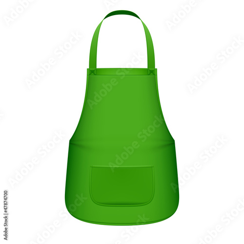 Green kitchen apron