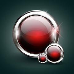 Glossy modern web button. Web navigation.