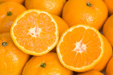 Fototapety Ripe oranges with clipping path