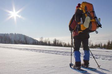 Schneeschuh-Trekking bei phantastischen Bedingungen