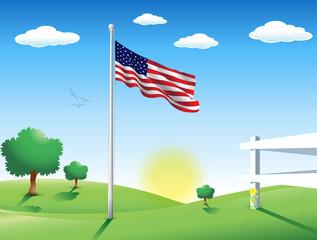 American Flag in July