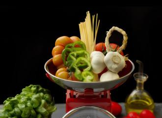 mediterranean diet with healthy ingredients