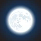 Fototapety moon background