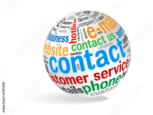 """""""CONTACT"""" Tag Cloud (customer service details hotline call)"""