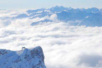 The crucifix on Zugspitze
