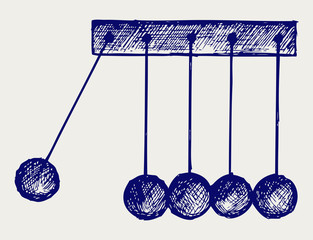 Hanging balls. Doodle style