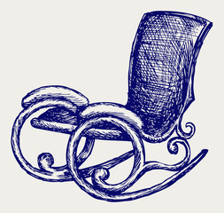 Rocking chair. Doodle style