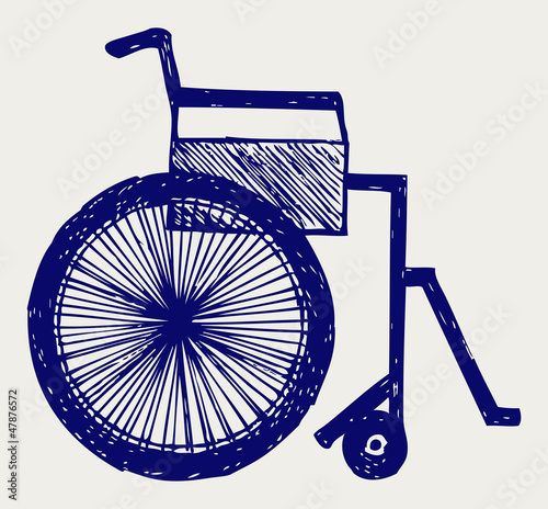 Invalid chair. Doodle style