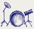 Drum set. Doodle style