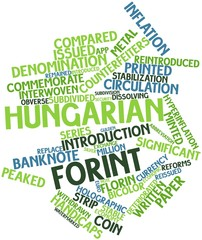 Word cloud for Hungarian forint