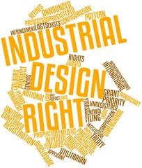 Word cloud for Industrial design right