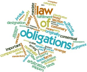 Word cloud for Law of obligations