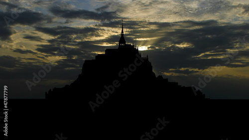 France Mont Saint Michel west sunset