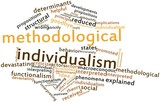 Word cloud for Methodological individualism