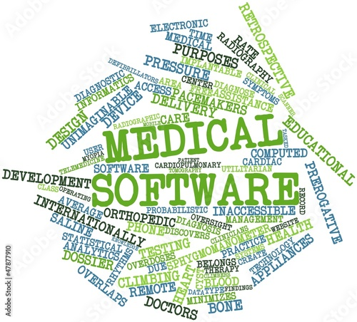Word cloud for Medical software