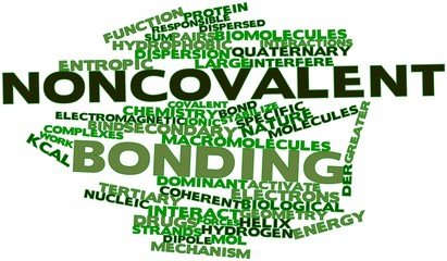 Word cloud for Noncovalent bonding
