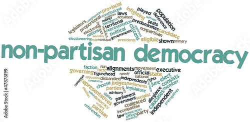 Word cloud for Non-partisan democracy