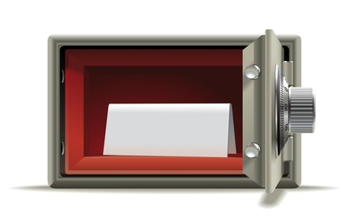 Safe deposit blank
