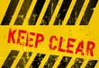 "Warning Sign ""Keep Clear"", vector illustration"
