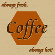 Coffee vintage poster