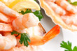 Gamberi rosa - Pink shrimps, close-up, selective focus