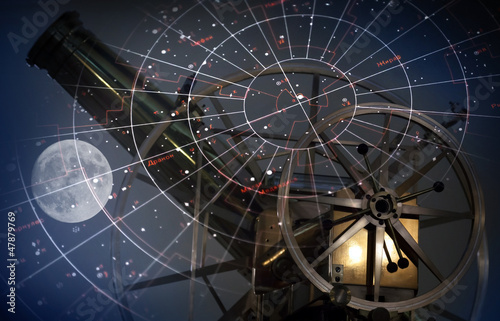 Astronomical abstract background