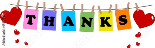 thanks or thank you header banner