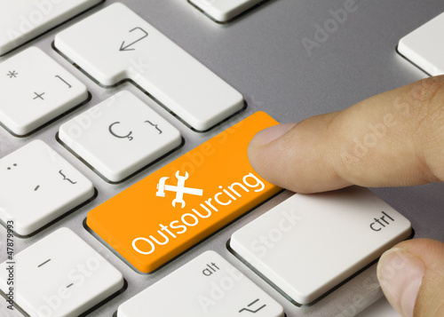 Outsourcing keyboard key. Finger