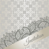 Silver special occasion invitation card