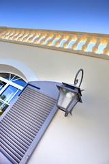 Maison, terrasse, façade, volets, fenêtres, rénovation