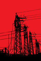 Powerline terminal towers