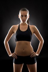 Black fitness woman sport young posing portrait