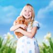 kleines glückliches Mädchen