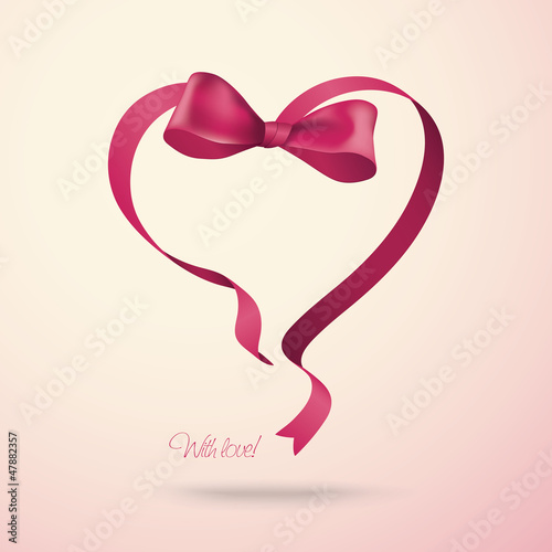 Heart made of ribbon