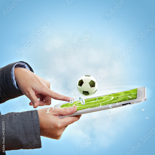 Touch screen computer device and ball