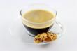 Kaffee schwarz in Glastasse