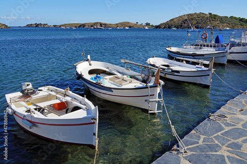 Catalan boats in Costa Brava