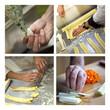 Cuisinier, cuisine, travail, emploi, alimentaire, mains
