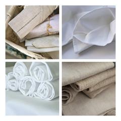 Serviette, linge, tissu, nappe, coton, blanc, torchon, lin