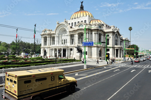 The Fine Arts Palace in Mexico City
