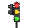 All lights on traffic signal