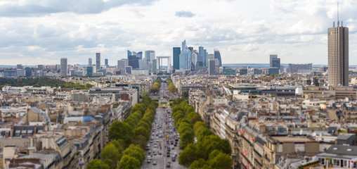 La Defense seen from Arc de Triomphe