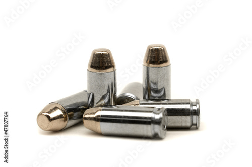 Gun Bullets isolated on white
