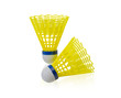 Yellow shuttlecock badminton ball