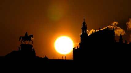 Germany Dresden sunset